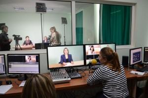 Сучасна телестудія університету обладнана таким чином, що студенти мають змогу безперешкодно знімати та монтувати телепрограми, виходити у прямий ефір, працювати зі світлом та звуком